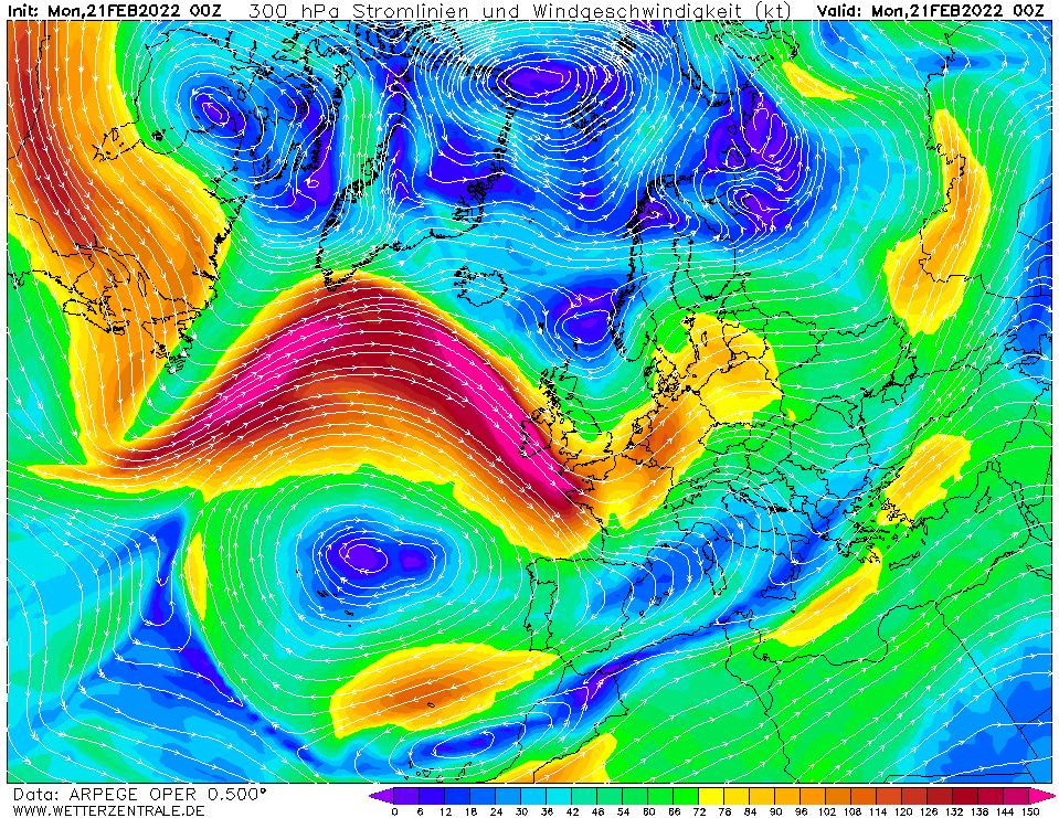 Prévision vent mesuré à une hauteur de 10 m, pour la France, calculée pour 00 h TU width=