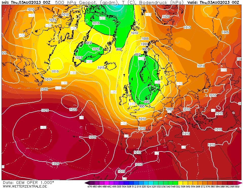 Isobar Chart Europe