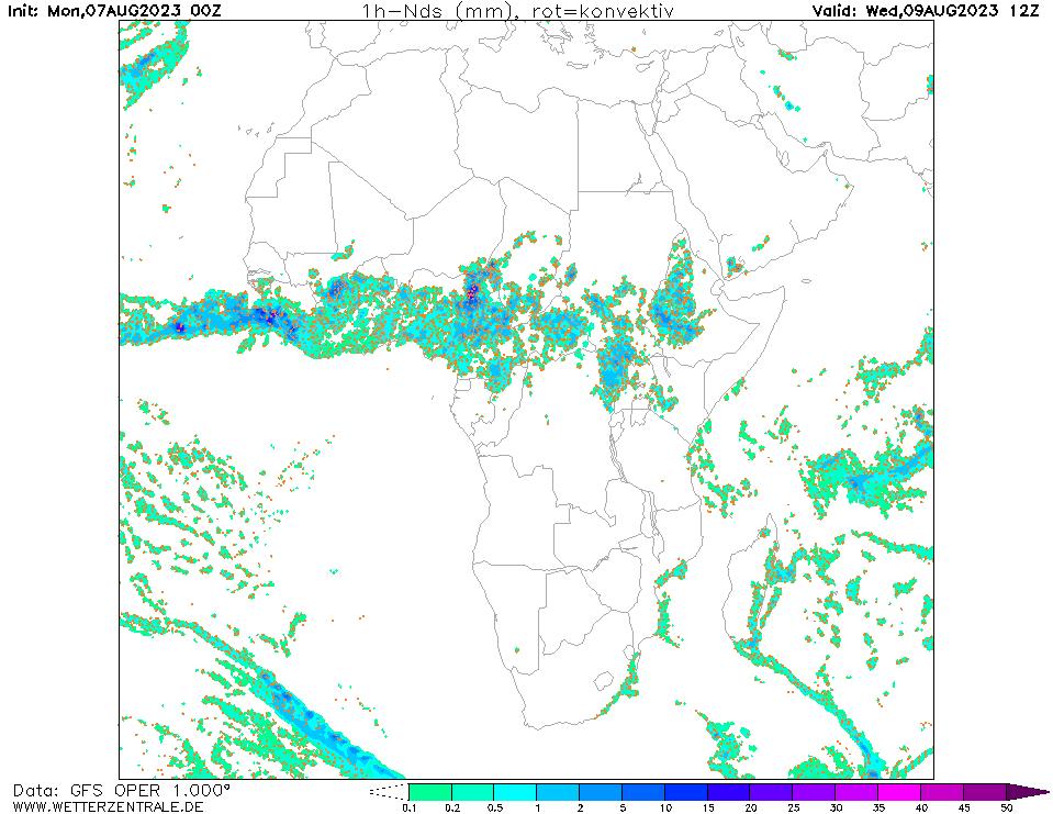 پیش بینی بارش ۶۰ ساعت آینده