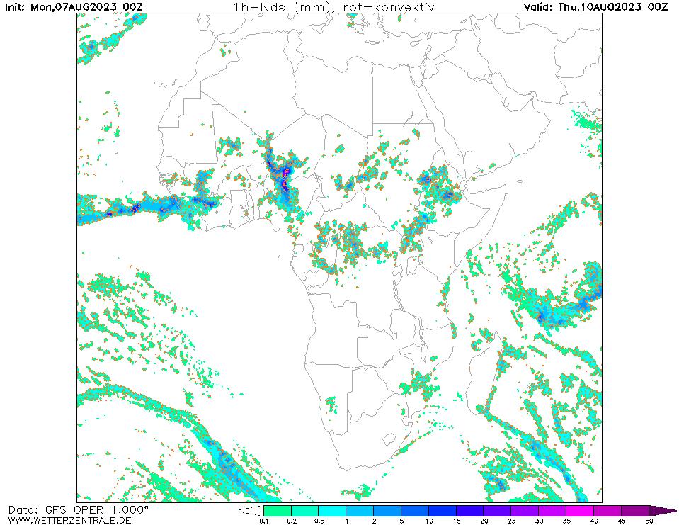 پیش بینی بارش ۷۲ ساعت آینده