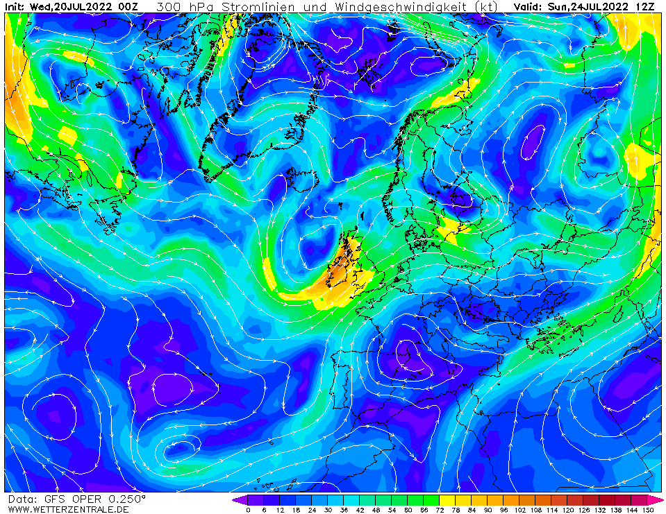 wetterzentrale mapa isobaras 108 horas