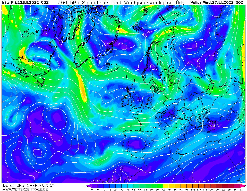 wetterzentrale mapa isobaras 120 horas