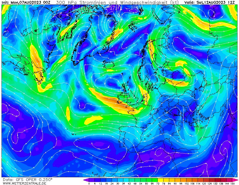 wetterzentrale mapa isobaras 132 horas