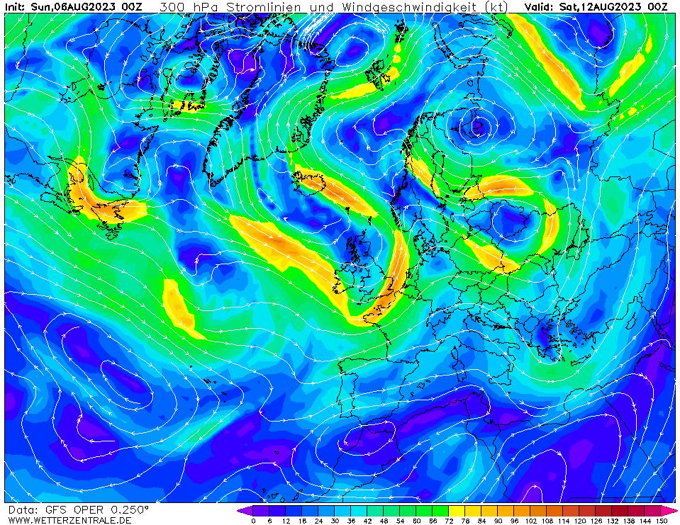 wetterzentrale mapa isobaras 144 horas