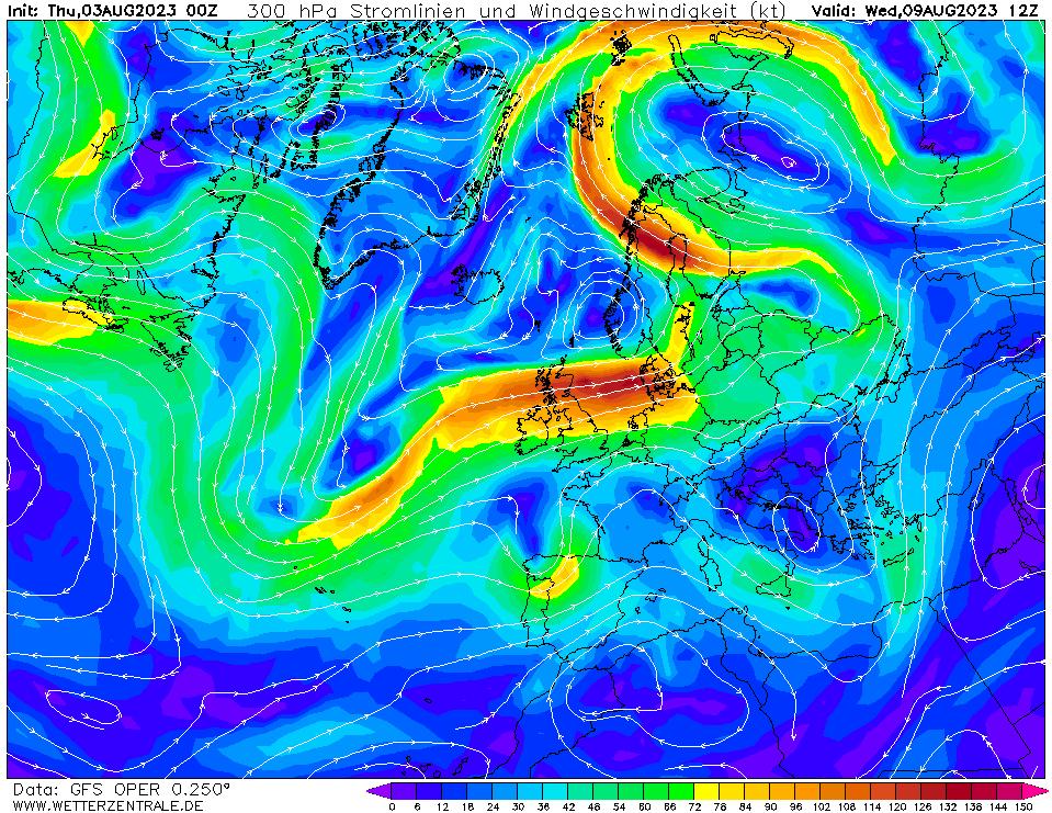 wetterzentrale mapa isobaras 156 horas