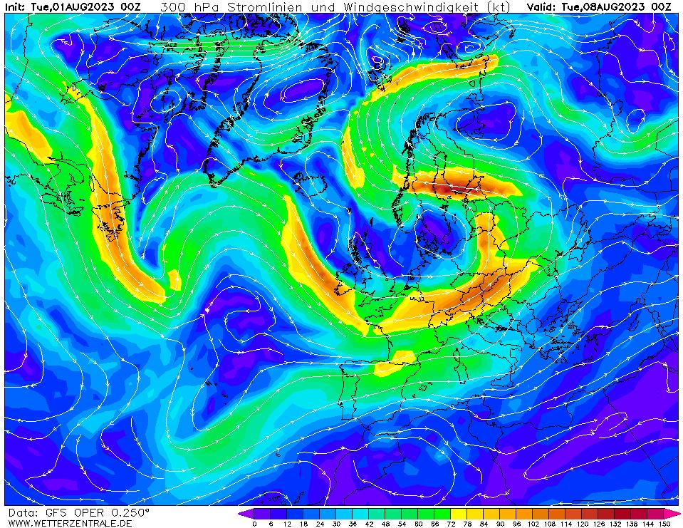 wetterzentrale mapa isobaras 168 horas