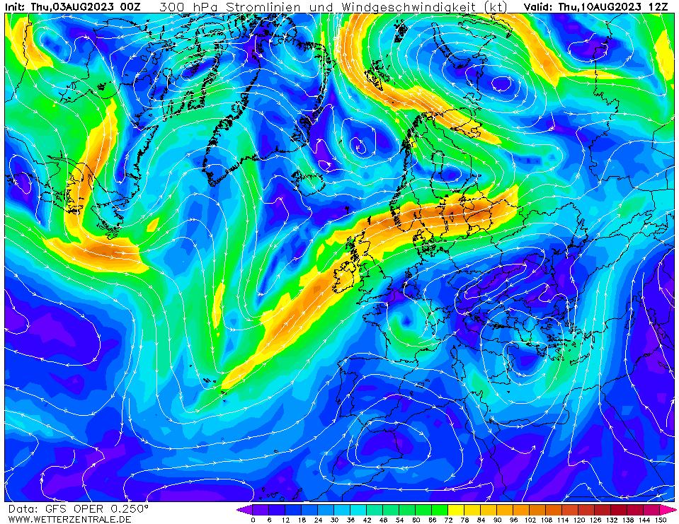wetterzentrale mapa isobaras 180 horas