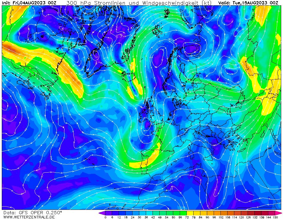 wetterzentrale mapa isobaras 264 horas