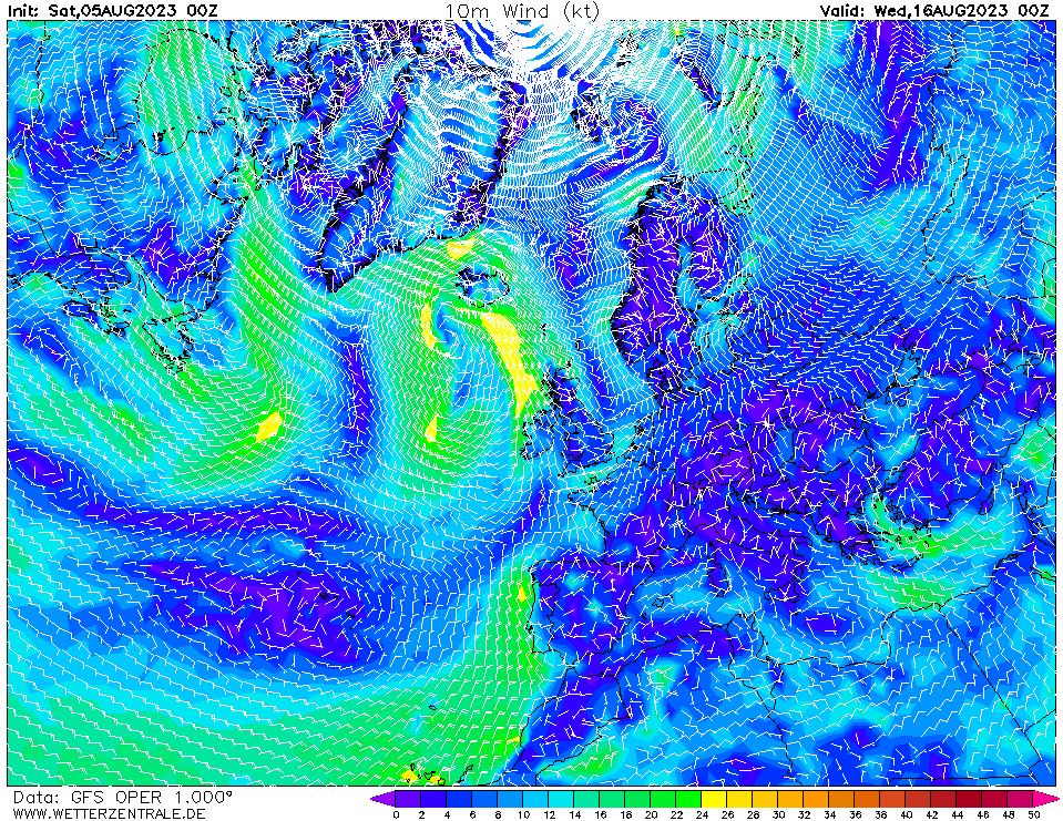 Modelos de viento wetterzentrale