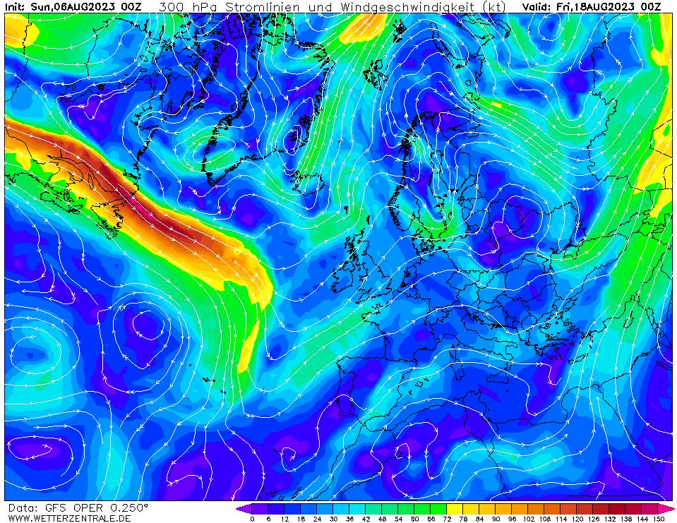 wetterzentrale mapa isobaras 288 horas