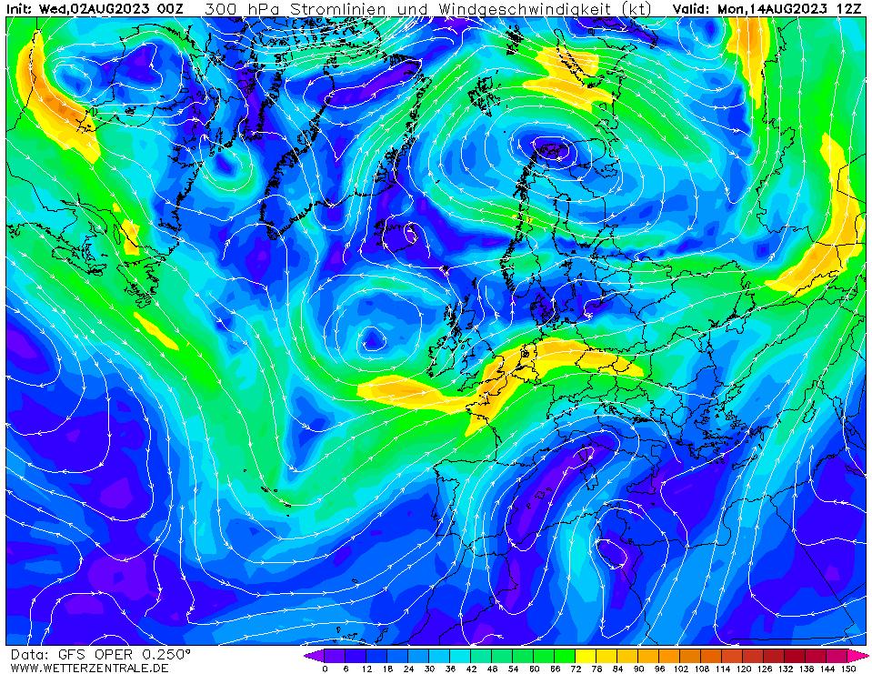 wetterzentrale mapa isobaras 300 horas