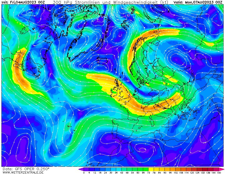 wetterzentrale mapa isobaras 72 horas