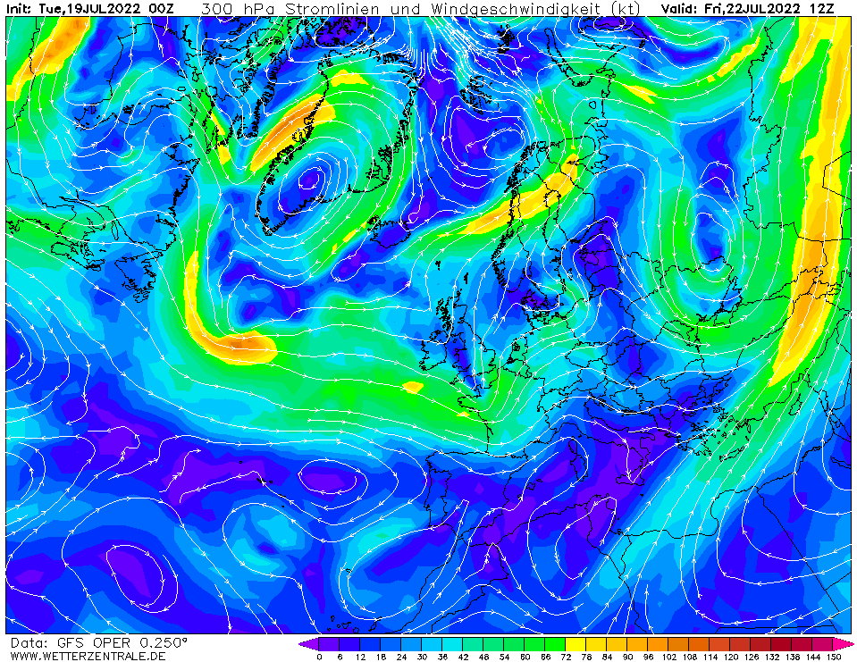 wetterzentrale mapa isobaras 84 horas
