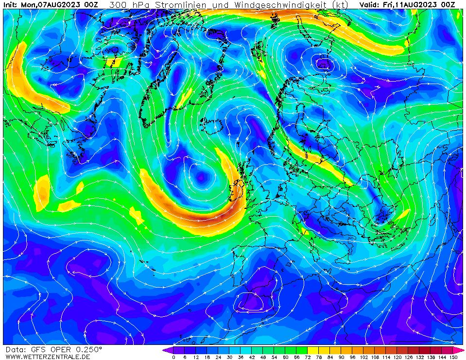 wetterzentrale mapa isobaras 96 horas