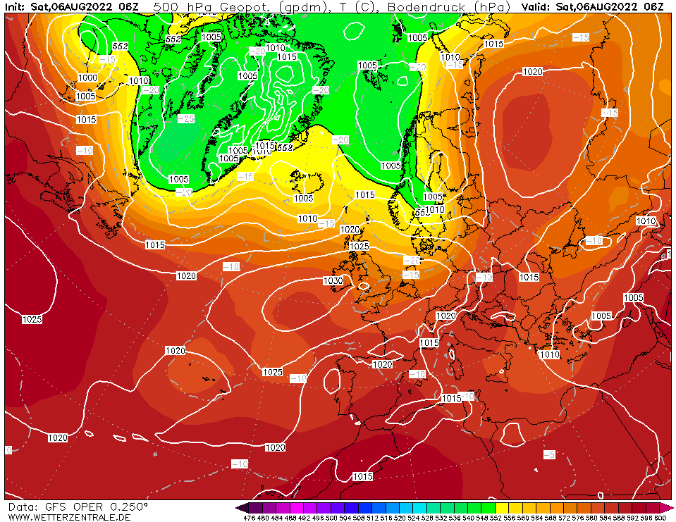 Weather & Aviation Page - Weather Forecast Europe GFS 500 hPa