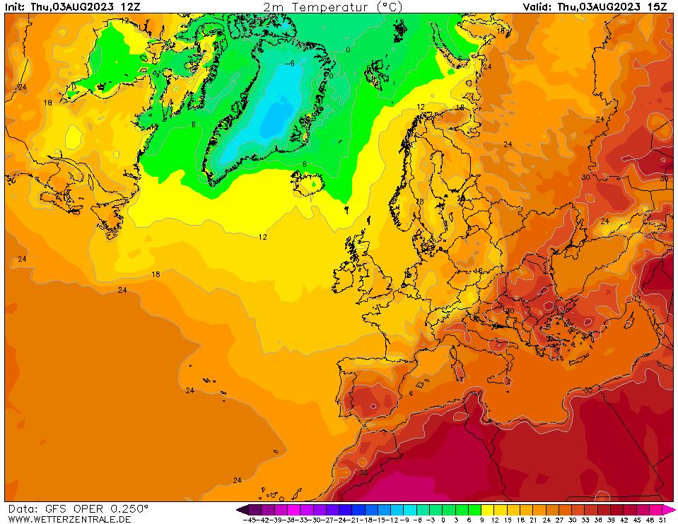 Sattellit billedet - Europa - (Klik for Zoom)