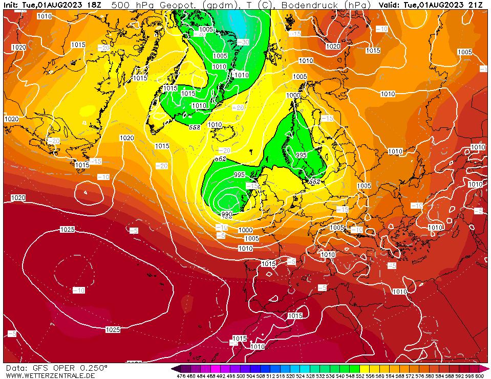 Wetterzentrale - Top Karten - GFS Europa 18Z