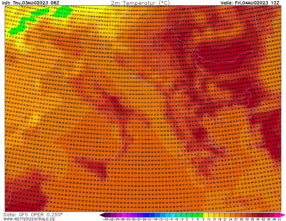 Previsioni meteo temperature 2 Giugno