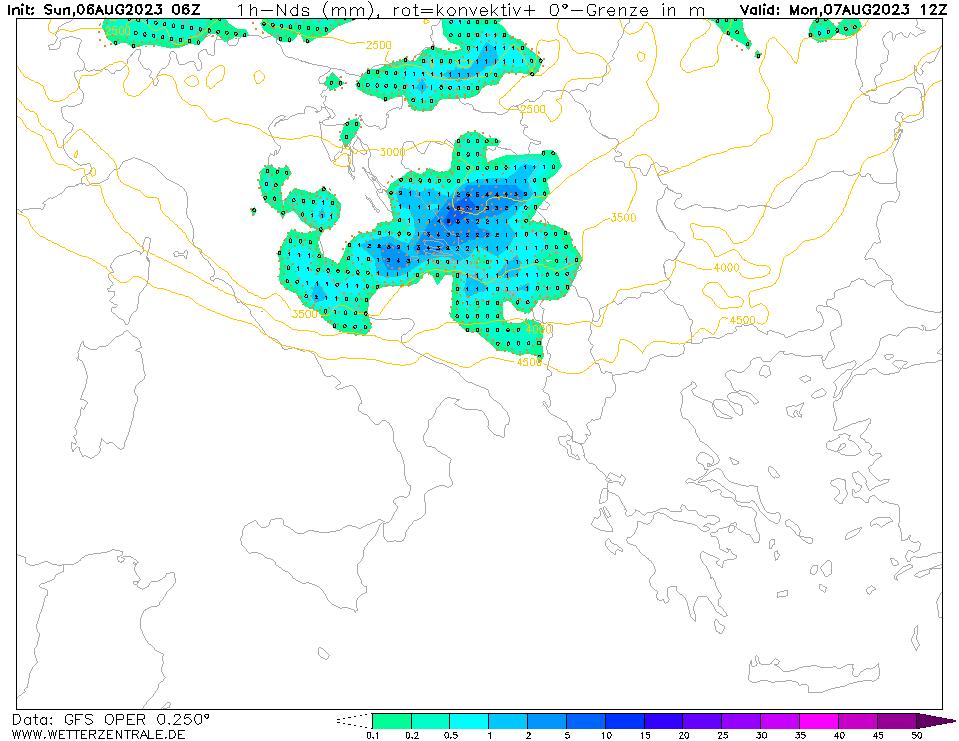 Previsioni meteo piogge 2 Giugno