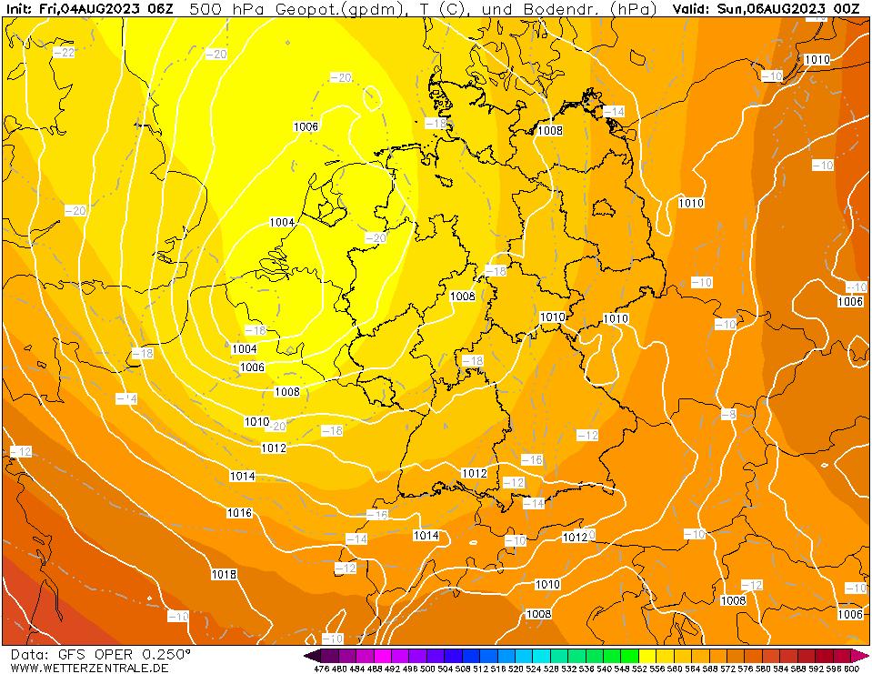 GFS Temperatuur - 500 hPA