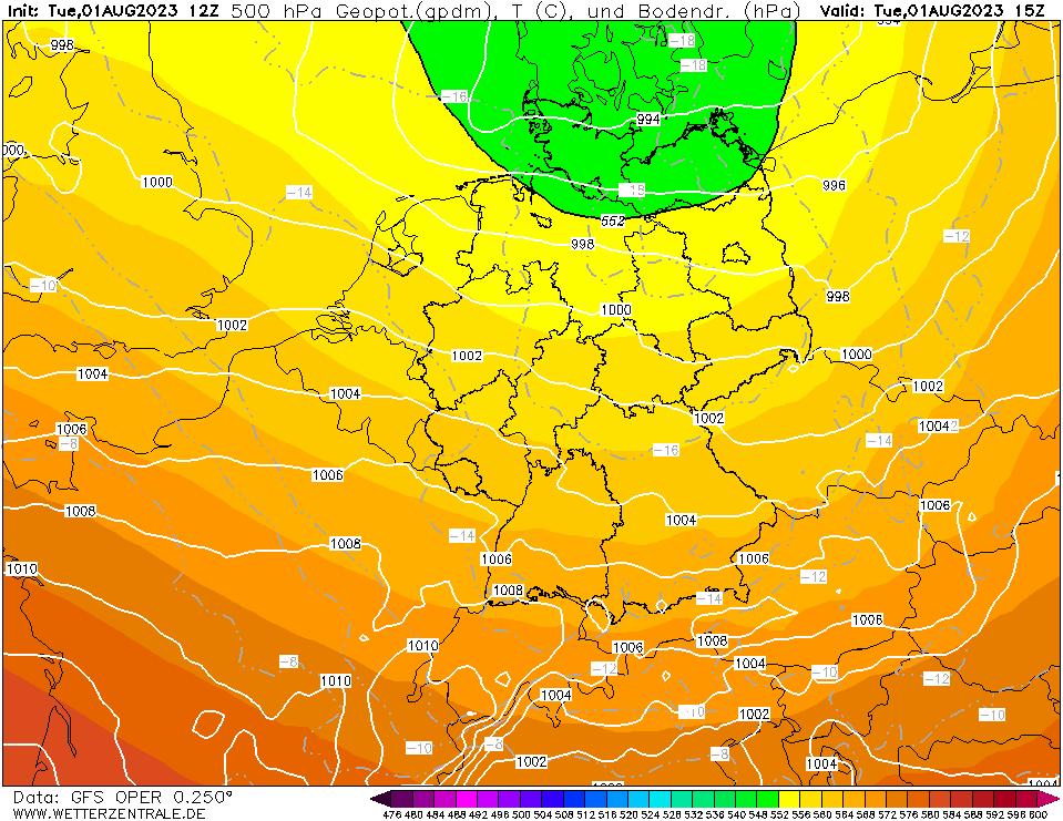 luchtdruk centraal europa