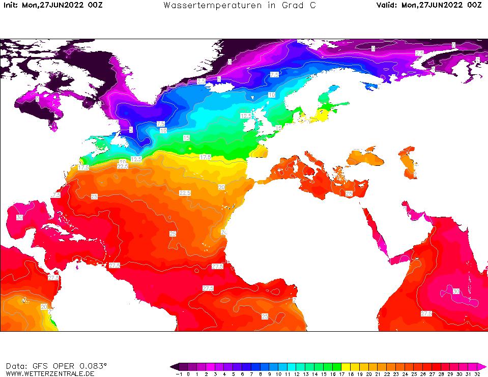 img temperatura del mar noaa atlantico norte