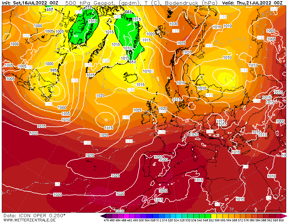 Latest DWD T+120 Forecast chart