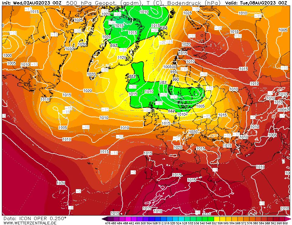 Latest DWD T+144 Forecast chart