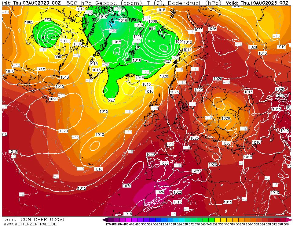 Latest DWD T+168 Forecast chart