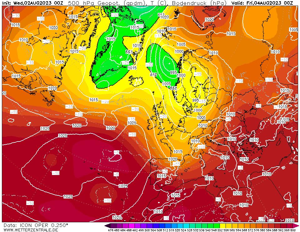 Latest DWD T+48 Forecast chart