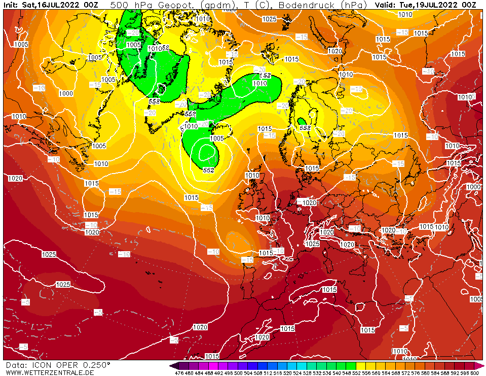 Latest DWD T+60 Forecast chart