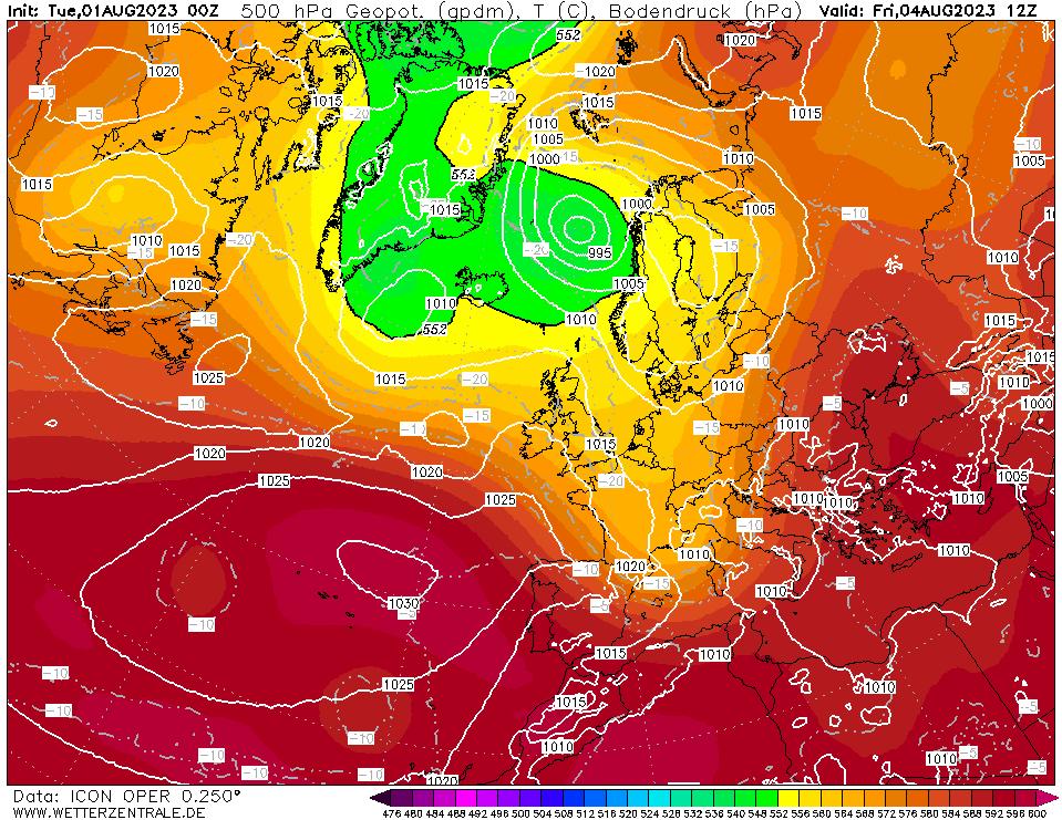 Latest DWD T+84 Forecast chart