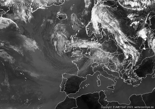 Wassertemperaturen Europa (Wetterzentrale)