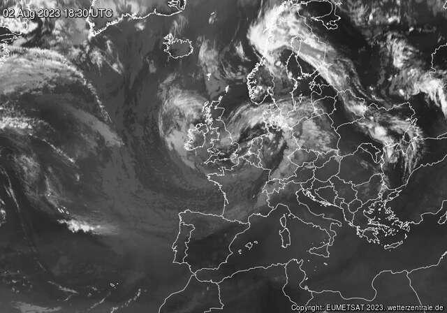 Satellite IR Europa
